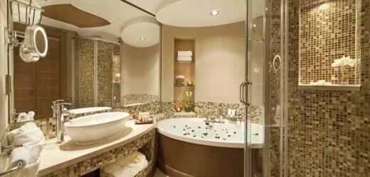 Mozaika złota w łazience – subtelny luksus